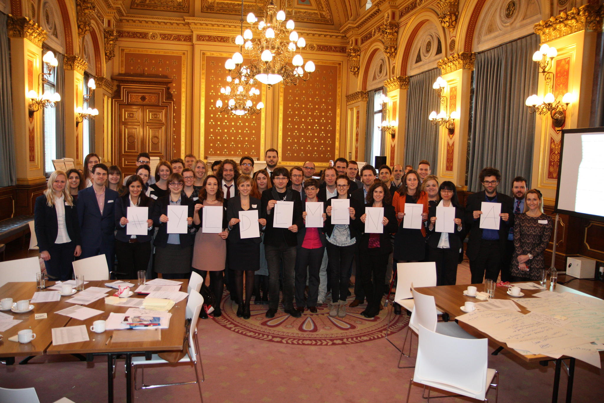 World Young Leaders in Dementia at the first workshop UK SIN organised in 2015, London.