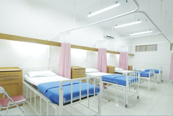 A typical hospital-like design in a care facility in Asia