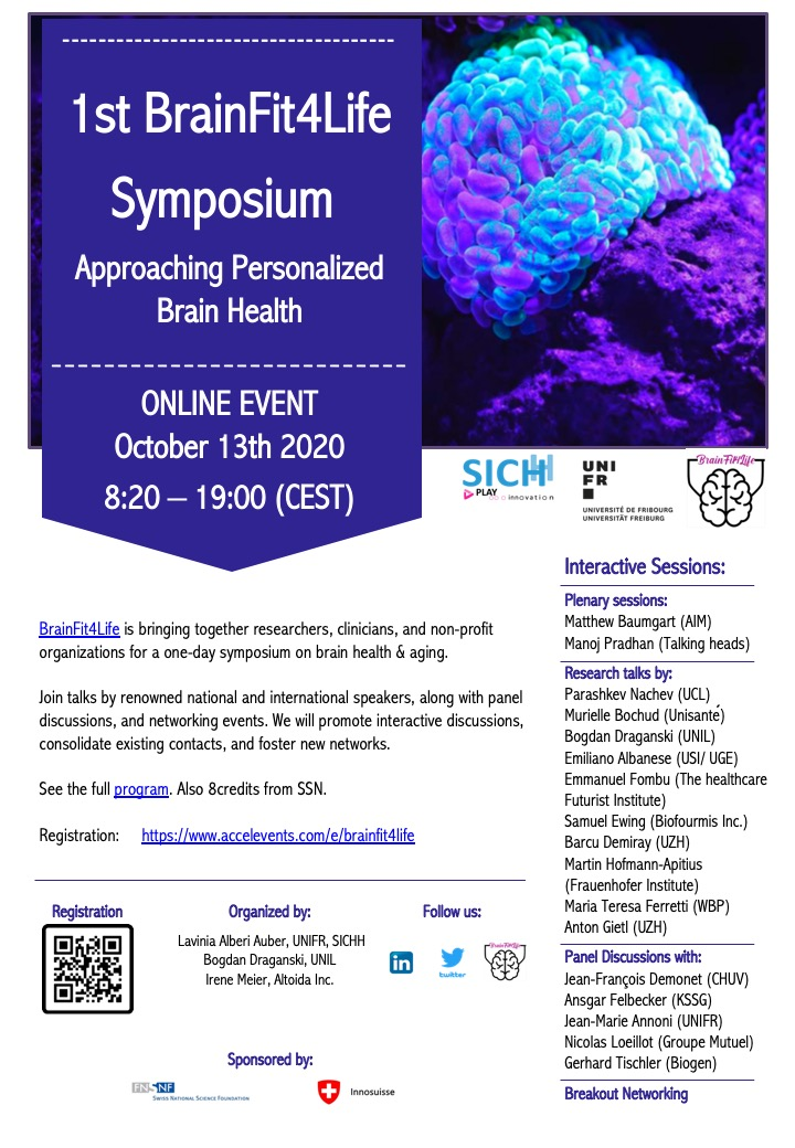 Event alert: BrainFit4Life Symposium – Approaching Personalized Brain Health